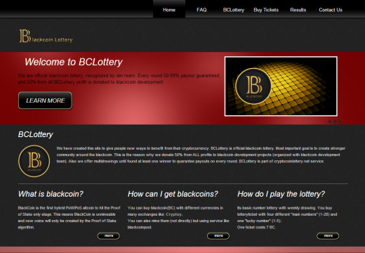 BCLottery – Official blackcoin lottery