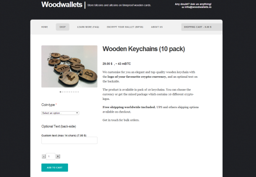 Wooden Keychains now with Blackcoin logo