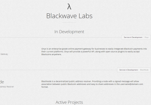 Blackwave Labs Active and in Development Projects