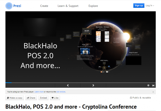 First BlackCoin Community Presentation ready for download