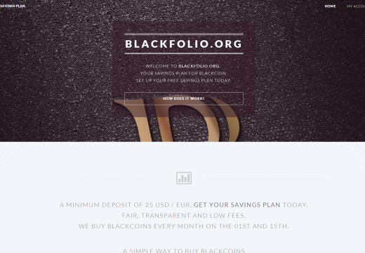 Blackfolio.org – Blackcoin savings plan is online