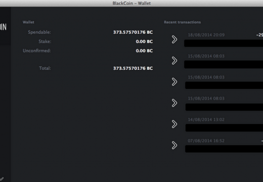 Blackcoin Wallet has been updated, with new user-interface!